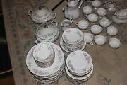 96 Pc Mitterteich Bavaria Germany Pink Floral China Springtime Set For 12 Ect