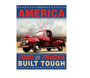 Ford Trucks Built Tough Retro Vintage Tin Sign 12.5in X 16in Brand New
