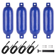 Durable 4 Ribbed 6.5x23 Boat Fender Dock Shield Protection Rowboat Outdoor New