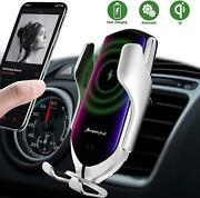 Wireless Car Charger Automatic Sensor Mount Auto-clamping Air Vent Phone Holder