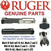 New Factory Ruger Stripped Mark Iv 4 Bolt Blued Fits 2 3 And All 22/45 And All Lite
