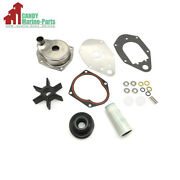 Water Pump Impeller Housing Kit For Mercury 1991-up 40-60 Hp Oem 46-812966a12