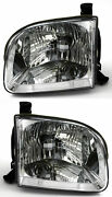 For 2001-2004 Toyota Sequoia / Tundra Double Extended Cab Headlights Pair Set