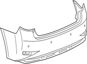 52159-33950 Toyota Cover Rear Bumper 5215933950 New Genuine Oem Part