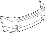 52159-53929 Toyota Cover Rear Bumper 5215953929 New Genuine Oem Part