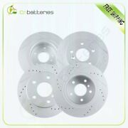 Front + Rear Slotted Brake Discs Rotor For 99-04 Land Rover Discovery Series Ii