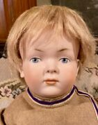 C1910 19andrdquo Antique German Rare Closed Mouth 183 526 Kley Hahn Character Doll