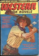 Western Action Novels - March 1936--norman Saunders Cover-high Grade Pulp