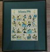 Super Rare Not The Usual Color Vintage Atlanta 1996 Centennial Olympic Stamps
