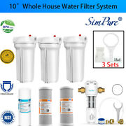 1-3 Stage 10 Whoe House System 1 Port + Carbon Block+sediment Water Filters