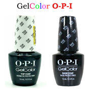 Hot New Gelcolor Opi Gel Nail Polish Colors Top And Base Coat - 2 Bottles X15ml