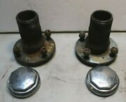 1971 Mgb Wire Wheel Hubs With Knockoffs – Pair Left And Right Matched Set Mv