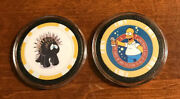 2 Poker Chip Card Guards Bart Simpson And Poker Prick