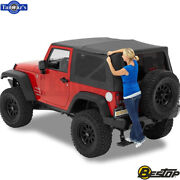2007-2018 Jeep Wrangler 2dr Incl Tinted Window Supertop Nx Soft Top - Black