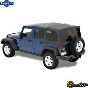 2007-2018 Jeep Wrangler Unlimited Incl Tinted Windows Supertop Nx Soft Top-black