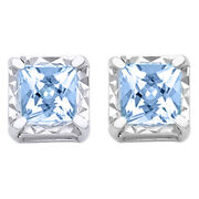1/2 Ctw Princess Diamond Stud Earrings In 14k White Gold Christmas Special