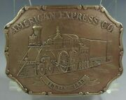 Belt Buckle American Express Co. Indian Terr. Railroad By Vintage Clean