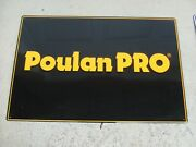 Vintage Poulan Pro Metal Sign Power Equipment Tools Chainsaw 35x 23