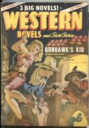Western Novels And Stories--dec 1947--spicy Girl Art Pulp Cover--allen Anderson