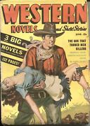 Western Novels And Stories-june 1948--spicy Girl Art Pulp Cover--allen Anderson