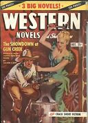 Western Novels And Stories--oct 19487-spicy Girl Art Pulp Cover--allen Anderson