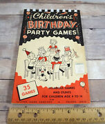 Childrens Birthday Party Games Antique No N-900 Leister Game Co Toledo Ohio Usa