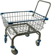Cart Basket Household Home And Commercial Charcoal Grey Cart With U-handle