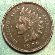 1906 Indian Head Penny F Fine Brwn Low 96 Million Most Liberty Pick A Set Here