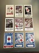 Lot American Red Cross Campaign 1943-57 Plus Christy Nurse And Cavell Nurse Cards
