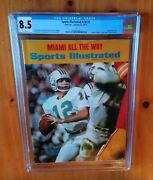 Sports Illustrated 1973 Griese Newsstand Cgc 8.5 One Higher Pop 1