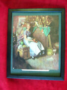 Norman Rockwell 'dreams In The Antique Shop' Vintage Print 9x11