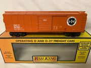 ✅mth Railking Operating Bessemer And Lake Erie Boxcar W/ Signal Man O Gauge Bandle