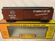 Mth Railking Operating Pittsburgh Lake Erie Boxcar And Signal Man New York Central