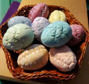 Set Of 9 Hand Painted Ceramic Easter Eggs With Glitter Accents