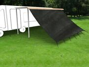 Shatex Rv Awning Shade With 90 Privacy Screen Free Kit 8ft X 12ft Black