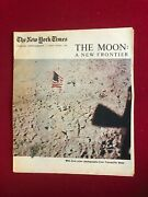 1969, Man On The Moon, Ny Times Newspaper Section Scarce / Vintage