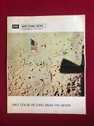 1969, Man On The Moon, Ny News Newspaper Section Scarce / Vintage
