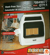 Dyna-glo Infrared Heater 18000-btu Plaque Wall Floor-mount Dual Fuel Vent-white