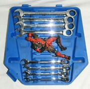 Cornwell Metric Ratchet Comb Wrench 8 Piece Set 8, 9 , 10, 11, 16, 17, 18 And 19
