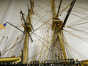Vintage Uss Constitution Model Ship Museum Quality Build Stunning 1/96 Scale