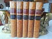 1881 Charles Kingsley, 5 Vol. Leather Book Set, Very Good Condition