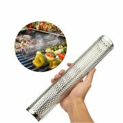 Smoker Tube Bbq Charcoal Gas Grill Grilling Meat Wood Pellet Smoke Box