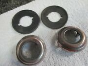 Original 1941-48 Ford Woody Door Escutcheon And Pads - Part On The Back