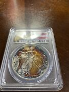 1989 American Eagle Silver Dollar Graded Pcgs Ms68 Monster Rainbow Toning
