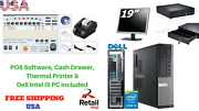 Low Price Full Pos All-in-one Point Of Sale System Combo Kit Retail Store Intel