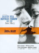Poster Folded 15 11/16x23 5/8in John And Mary 1969 Peter Yates - Dustin Hoffman