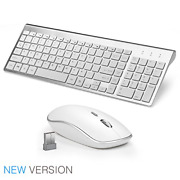 Wireless Keyboard And Mouse Combo Compact Slim For Apple Imac Pc Desktop Set