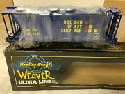 ✅weaver Golden West Service Ps-2 Covered Hopper Car New For O Scale Train Set