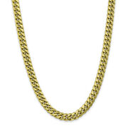 10k Yellow Gold Semi-solid Miami Cuban Chain Bracelet Or Necklace 10bc157