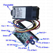 Focusable 12v 532nm 200mw Green Laser Diode Module Diy Fixed Ttl Continuous Pwm